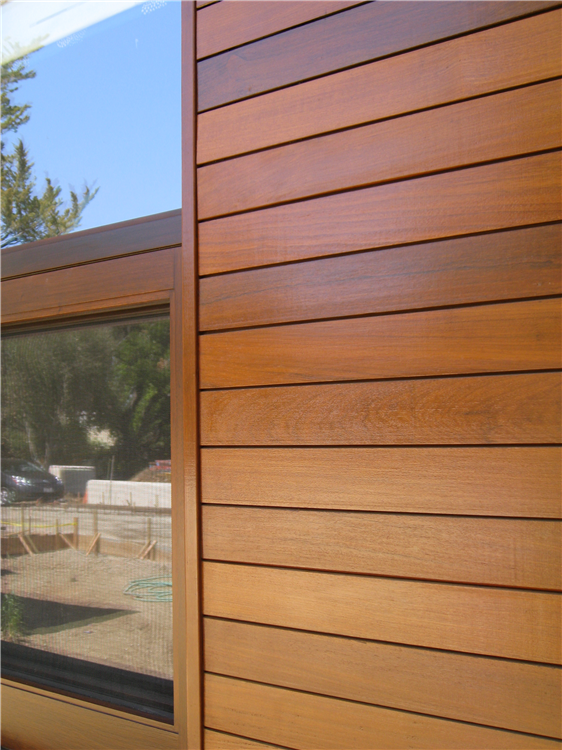 Close up photo of Hillsborough, California residence showing window detail.