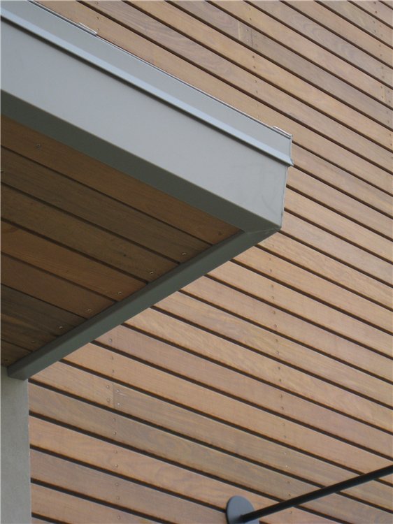 Detailed photo of Nike retail store showing face screwed S4S Ipe boards.