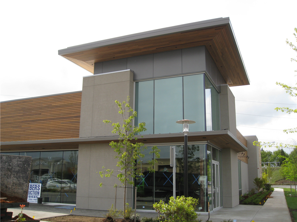 Nike's Eugene retail store was constucted with a Rain Screen system in 2008 with FSC, Forest Stewardship Council, Certified Ipe.